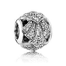 1PCS Silver Round Charms Beads fit European Silver Bracelet