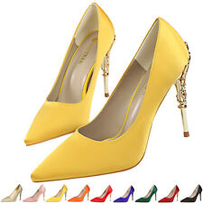Women Ladies High Heels Pointy Toes Stiletto Court Shoes Pumps Wedding Party