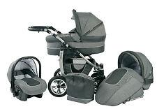 Kinderwagen Baby Merc Leo 3in1 Kombikinderwagen - Liegewanne - Buggy - Autositz