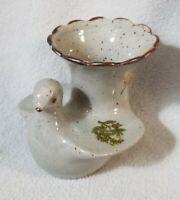 Kitamura Takashi Vintage Kutani Kosen Stoneware Vase Japanese Art Pottery Bird