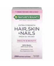 250 Nature's Bounty Hair Skin and Nails 250 Softgel Multivitamin 5000 mcg Biotin