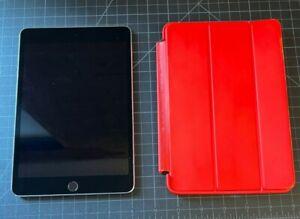 Apple iPad Mini 4, 64GB, Wi-Fi Only, 7.9in, Gray w/ Smart Case (RED) - Bundle