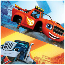 16 Blaze Monster Trucks Party Napkins Boys Party Supplies Blaze Party Tableware