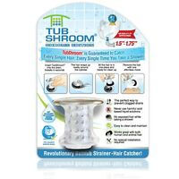 TubShroom Chrome Edition Revolutionary Tub Drain Protector Hair Catcher
