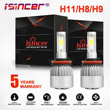 Pair LED Headlight Kit H11 H8 H9 800W 120000LM Plug&Play Bulbs CREE 6500K White