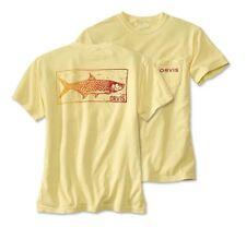 Orvis Tarpon Stamp Short Sleeved Cotton Graphic T-Shirt Fishing Pocket Medium