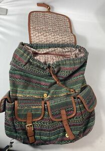 Womens Ladies Tapestry Embroidery Rucksack Backpack bag