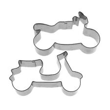 Vehicle Motorcycle Autobike Scooter Baking Pastry Metal Cookie Cutter Set