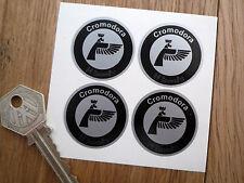 CROMODORA 35mm Black & Silver set of 4 rim stickers