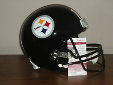 Mike Wallace Signed Full Size CUST Pittsburgh Steelers Football Helmet PROOF JSA