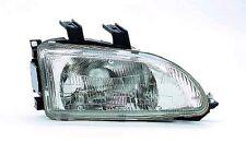 Passenger Side Head Light Assembly - Honda Civic Coupe/Hybrid/Sedan - 92-95