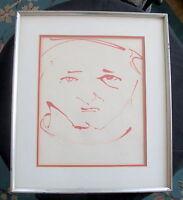 Original Cubist Portrait of Jacques Lipchitz by Elena Kepalas, Signed, Fine Art