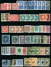 Austria Postage Due & Newspaper Lot Mint & Used 60 items Fresh