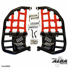 Honda TRX 450R  Nerf Bars  Pro Peg Heel Gaurd  Alba Racing  Black Red  218 T7 BR