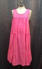 Oshkosh Girls Hot Pink Knit Sleeveless Sundress Dress Swim Cover Up Size 12