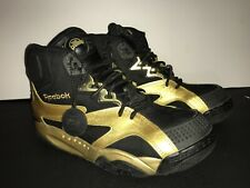 meet ffce7 b9e62 Reebok OXT Pump Black Gold V59128 Men s Shoe Size 10 High Top 046501 913