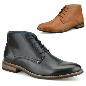 Mens Chelsea Dealer New Casual Smart Lace Up Work Ankle Chukka Boots Shoes Size