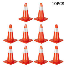 10Pcs 18 inch Orange Safety Traffic Cones Trucks and Road Safety Contro