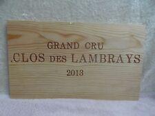 2013 CLOS  DES LAMBRAYS FRANCE WOOD WINE PANEL END