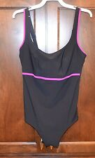 ANITA Comfort  One piece Purple Black  size 8  C Cup Swimsuit Underwire Bathing