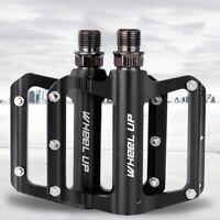 9/16'' Mountain Road Bike Pedals MTB Aluminum Wide Flat Platform Sealed Bearing
