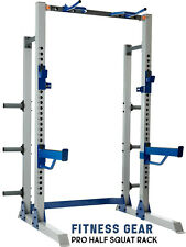 Fitness Gear Pro Half Rack Squat Home Gym Compatible w/ Bench