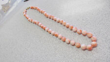 Estate Pink Natural Angel Coral Necklace 17 inch 7.5 to 8 mm 14k   No Reserve