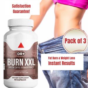 Coffee Extract Caffeine Pills - Natural Energy, Weight Loss, Fat Burner, 3 Packs