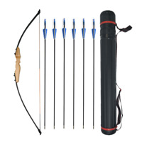 30/40lbs Archery Takedown Straight Recurve Bow Fiberglass Arrow Hunting Shooting