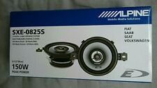 "Alpine SXE-0825S 3.5""(8.6cm DIN) Custom Fit Coaxial 2-Way Car Speakers 150W PAIR"