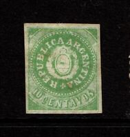 Argentina SC# 7F, Mint Hinged, Hinge/Pg Rem, toned, reprint/forgery? - S10216