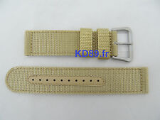 Authentic Seiko Beige military Nylon 22mm strap band 4A214JL SNZG07 7S36-03J0