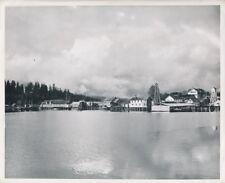 USA c. 1950 - Panorama Vue sur la Conserverie de Poissons Klawock Alaska- GF 670