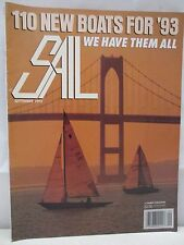 Sail Magazine September 1992 New Boats For 1993 Tall Ships Voyaging Electronics