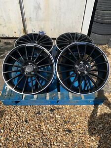 """18"""" Mercedes C63 AMG Style Alloy Wheels Only Black/Pol for Mercedes C-Class W205"""