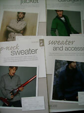 job-lot of Bergere De France Mens clothes Knitting Patterns [from magazine]