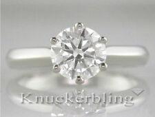 Excellent Cut Round White Gold VVS1 Fine Diamond Rings