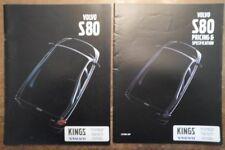 VOLVO S80 SALOONS orig 1999 UK Mkt Prestige Sales Brochure + Price List