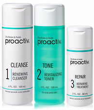 Proactiv 60 Day 3 Piece set Proactive Cleanser Toner Lotion 1 Time Only Kit 2020