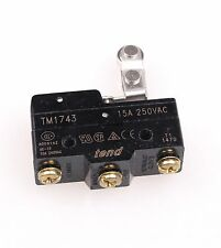 New TM-1743 One-way Roller Lever Momentary Micro Limit Switch 2pcs