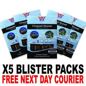 Frozen Fish Food 100g BCUK Blister packs Chopped Mussel x5