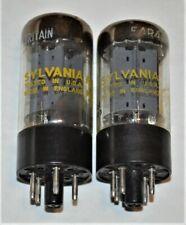 (2) MULLARD SYLVANIA GZ34 5AR4  RECTIFIER VACUUM TUBES F32
