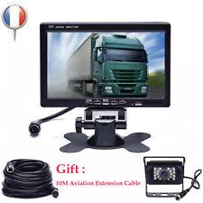 "IR Câblé Caméra de recul étanche + 7"" LCD Moniteur Car Rear View Kit Bus Truck"
