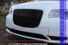 GTG 2015 - 2018 Chrysler 300 / 300C 1PC Gloss Black Overlay Bumper Billet Grille