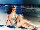 Marilyn Monroe Poster 1950's Retro Swimsuit Beach Photo Art Print (24x18)