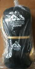 16oz Black & Gold boxing gloves real leather