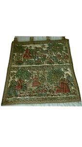Antik Gobelin Wandteppich Wandbehang 70/70cm