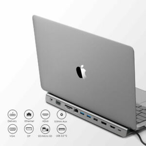 LENTION USB C Hub Docking Station zu HDMI Ethernet Aux Adapter for MacBook Pro
