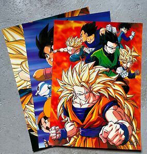 Lot 3 x Dragon Ball Z - Posters - Dragon Ball Super Goku. 53cm x 38cm