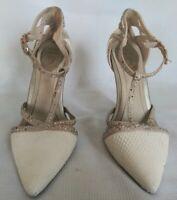 Rene Caovilla snakeskin sandals and Swarovski Crystal T-strap Heels Sz38 $1700!